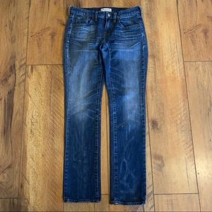 Madewell Slim Boy Jean 24 distressed